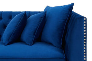 Royal Blue Chester Corner Suite - Left