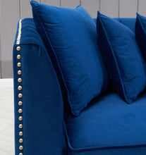 Load image into Gallery viewer, Royal Blue Chester Corner Suite - Right