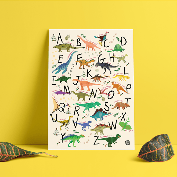 A - Z Dinosaurs  - Non Tearable Poster