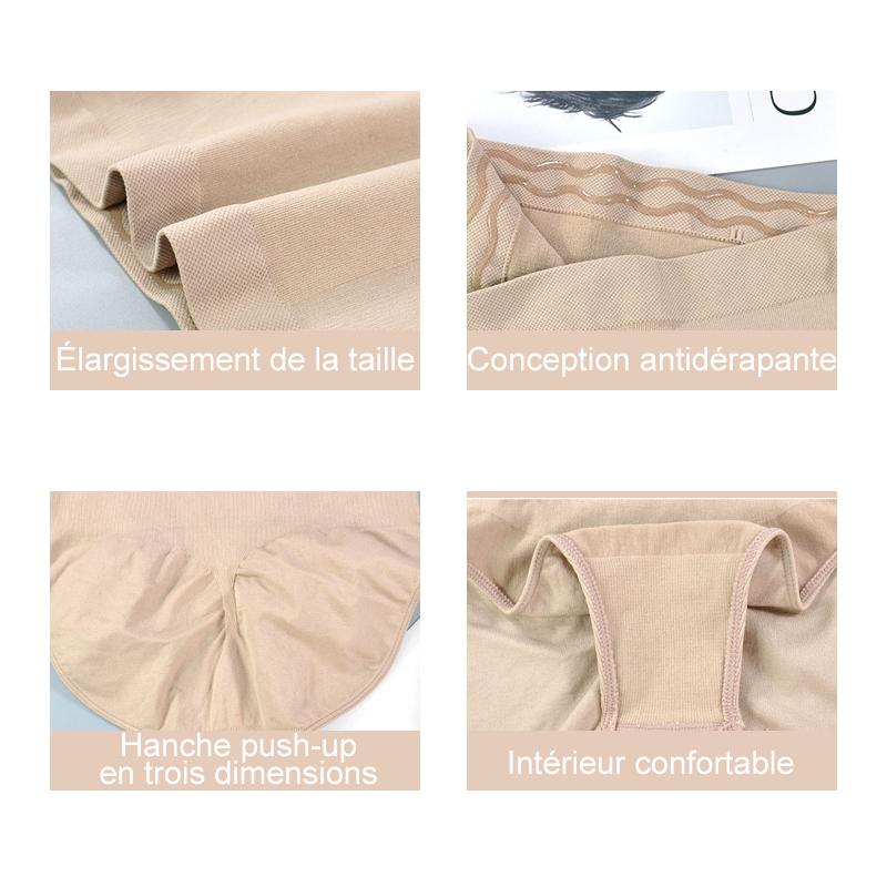 Plusgenial™ Body Shaping Culotte à Taille Haute avec Silicone Antidérapante