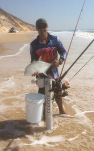 RODGOD'S PATENTED ROD HOLDER DESIGN, ALLOWS MULTIPLE FISHING STYLES FOR THE ONE ORGANISED LOCATION