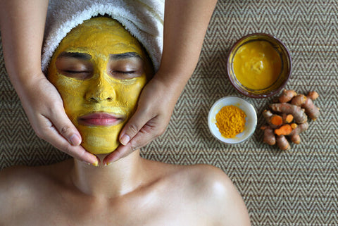Turmeric-Mint-Gelatin peel off face mask