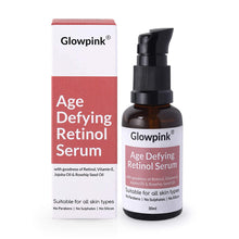 Load image into Gallery viewer, Glowpink Age Defying Retinol Serum with Vitamin E, Jojoba Oil & Rosehip Seed Oil - Glowpink