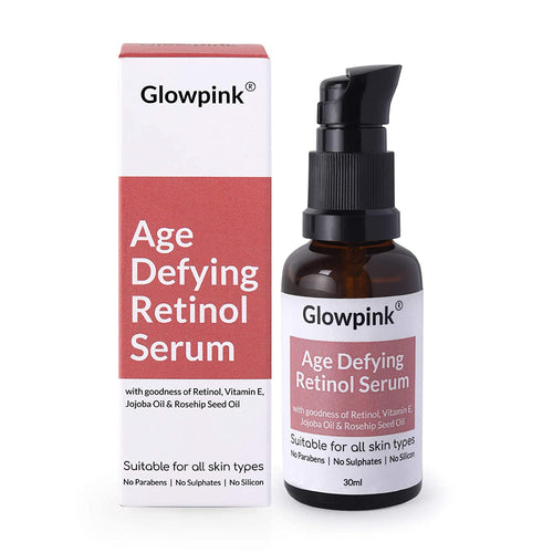 Glowpink Age Defying Retinol Serum with Vitamin E, Jojoba Oil & Rosehip Seed Oil - Glowpink