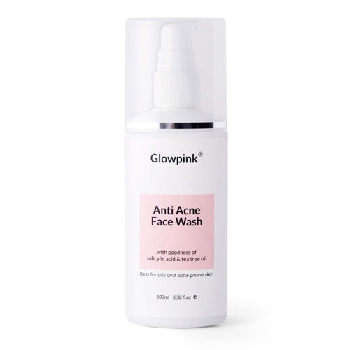 Glowpink Anti Acne Face Wash with Salicylic Acid & Tea Tree Oil - Glowpink