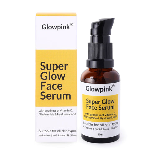 Glowpink Super Glow Face Serum with Vitamin C, Niacinamide & Hyaluronic Acid - Glowpink