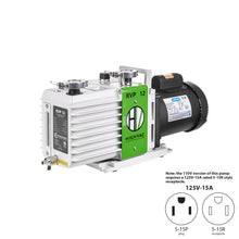 Load image into Gallery viewer, RVP 12 ETL, CSA Certified Two Stage Oil Sealed Rotary Vane Vacuum Pump