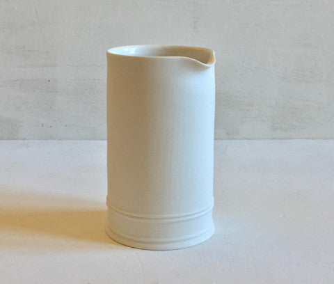 Classical Cream Jug - Plain, Half Glazed
