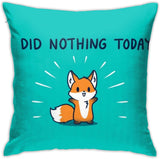 F.G. MINGSHA Throw Pillow Cover Cartoon Cute Cat Fox Pillow Cases for Home Decor Design Set Cushion Case for Sofa Bedroom Car Standard Size 18 x 18 Inch