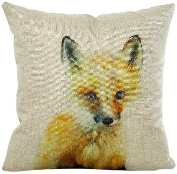 Throw Pillow Cases, E-Scenery Clearance Sale! Animals Linen Square Decorative Throw Pillow Covers Cushion Cases for Sofa Bedroom Car Home Decor, 18 x 18 Inch (F)