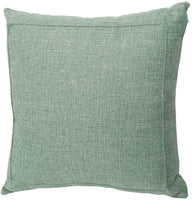 Jepeak Burlap Linen Throw Pillow Cover Cushion Case, Farmhouse Modern Decorative Solid Square Thickened Pillow Case for Sofa Couch (18 x 18 inches, Sage Green)
