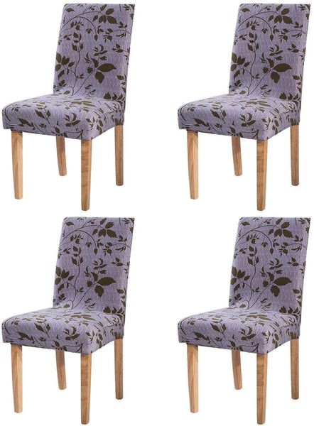 Ogrmar 4PCS Stretch Removable Washable Dining Room Chair Protector Slipcovers/Home Decor Dining Room Seat Cover Multiple Styles (Style 6)