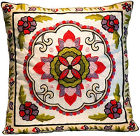 Elegant Floral Pattern Design Canvas Throw Pillow Cover Case for Couch Sofa Home Decoration Modern Style 18 X 18 Inches