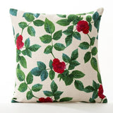 American Rural Flowers Rose Fresh pastoral Pillow Cover Home Decorative Pillows Linen Pillow Case Office Sofa Cushion Cover