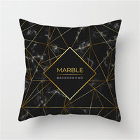Fuwatacchi Geometric Cushion Cover Gold Color Mandala Floral Pillow Case Home Bedroom Sofa Decor Polyester Pillow Case