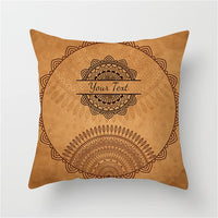 Fuwatacchi India Religion Style Cushion Cover Elephant Flower Printed Pillow Cover Throw Pillows Decorative Pillows for Sofa Car