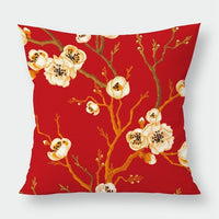 Silstar Tex Red Floral Pillow Case Rose Cushion Cover Vintage For Home Office Decoration Daily Necessities Series