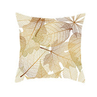 Nordic style Suede Fabric Cushion Cover Golden Leaves Single-sided digital Printing Home Decor Pillow Cover Car Sofa Pillowcase