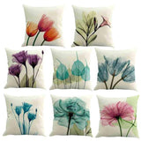 45X45 cm Nordic Flower Sofa Cushion Cover Flower Pillow Case Sofa/Chair/Car Throw Pillow Covers Decorative Pillowcase Home Decor