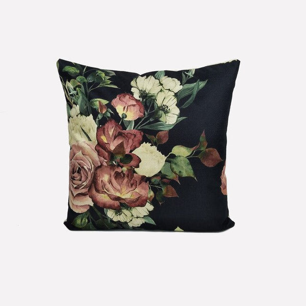 Cushion Covers Decorative Pillows Case 45*45 Floral Linen Pillowcases Car Seat Bed Home Decoration for Sofa fundas cojins
