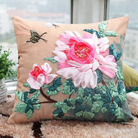 Latch Hook Rug Making Beginners Embroidery Ribbon Flower Pillow Cushion Cover KYY8853