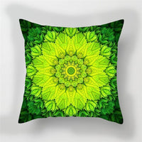 Fuwatacchi Colorful Floral Cushion Cover Mandala   Soft Throw Pillow Cover Decorative Sofa Pillow Case Pillowcase