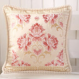 48*48cm European Jacquard Elegant Floral Decorative Cushion Covers For Car Sofa Chair Home Decor Classic Throw Pillow Case