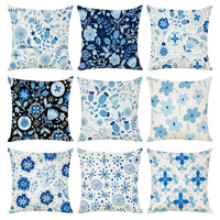Floral Pattern Printed Linen 45cm*45cm Pillow Case Sofa Car Waist Cushion Cover Polyester Travel Pillow Case Home Decorative