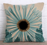 Colorful Flowers Printed Decorative Throw Pillow Floral Plant Cushion Cover Decoration Home Textile For Sofa Home Almofadas