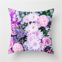 Fuwatacchi Oil Paint Flowers Cushion Covers Rose Lily Sunflower Pillow Covers for Home Sofa Chair Decor Square Pillowcases