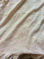 "Vintage Large Floral Pillowcases Pink Marble Affect 18""x27"""