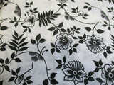 Vintage 70s NOS Pair of Pillowcases in Black and White Floral Unused