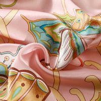 16mm Silk Printed Thickened Double Sided Silk Pillow Case Summer Single 1 Set