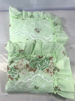 Oxford Drapery Set of 2 Green Floral Standard Pillowcases SHAMS Home Decor Chic