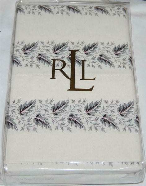 Ralph Lauren Winter Cottage Leaf King Pillowcases New 1st Quality