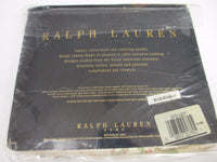 RARE Ralph Lauren CLARICE Neutral Red Blue Green Floral Fitted Sheet - Queen