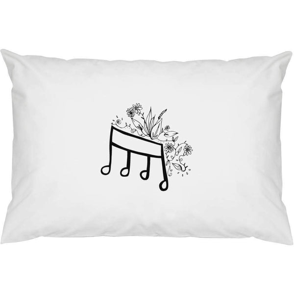 "2 x 'floral note of music ""pillowcases cotton (pw00005440)- show original title"
