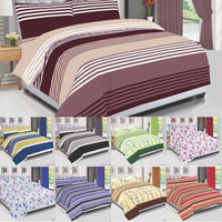 Bedding Set, Quilted Duvet Cover, Duvet Cover With Pillow Cases & Fitted Sheet