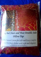 New Sealed King Size Fitted Bed Sheets With 2 Pillowcase 100% Cotton 1200 count