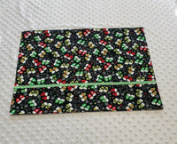 Winter Christmas Mittens Snow Handmade Cotton Pillowcase Standard Size