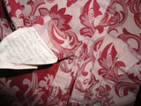 HIGH COUNTRY RED FLORAL DAMASK JACQUARD KING/CALIFORNIA KING FLAT SHEET 104X100