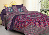 Indian Handmade 100% Cotton 2 Pillow Cases Set Bedspread Mandala Print Bedsheet