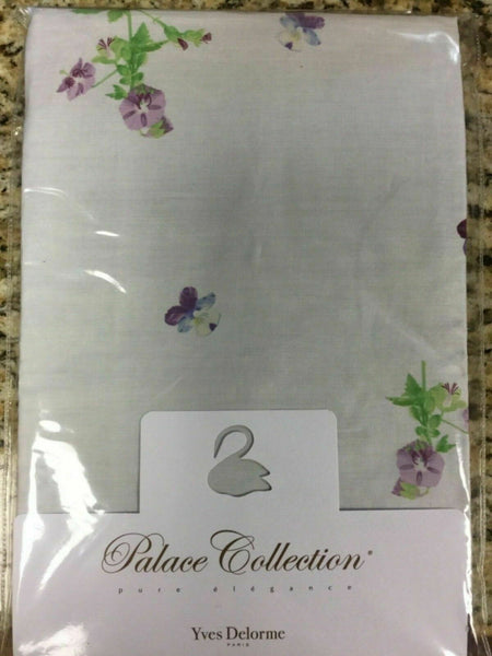 $85 YVES DELORME MI OMBRE PURPLE VIOLETS PANSY FLOWER STANDARD PILLOWCASE RARE