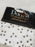 Vintage Retro Dorma brown white flower pair Pillowcases 60s 70s VW Camping Mod