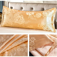 "For Body Pillowcase Satin Jacquard Long Pillow Covers Washable 39/47/59/70"" BCL"