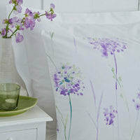 Charlotte Thomas Kendall Floral Housewife Pillowcases in Lilac (Pair)