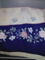 Ted Brooks 3 Piece Twin Bedding Sheet Set Cream Blue Floral Canada Cotton Poly