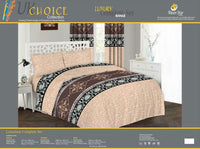 Luxury Duvet Cover Set, Quilted Cover With Pillow Cases & Fitted Sheet All Sizes