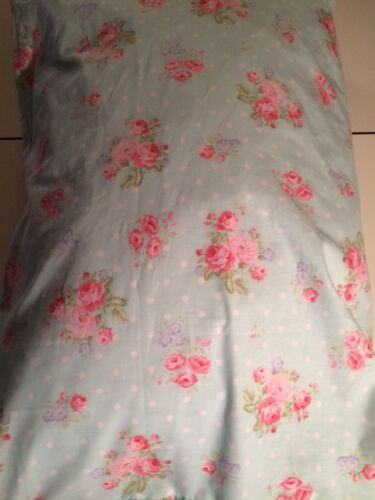 Handmade Turquoise Floral Shabby Chic Pillow Case/Cover with or without Ruffle