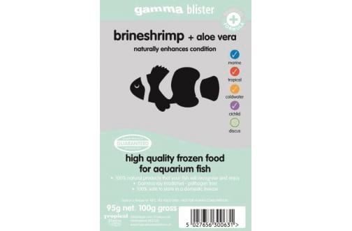 Brineshrimp with Aloe Vera blister